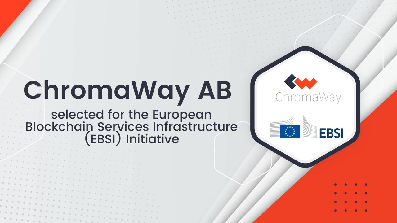 ChromaWay AB selected for the EBSI initiative
